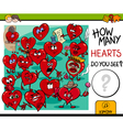 counting hearts activity vector image vector image