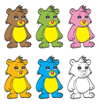 Cute cartoon baby bear vector image vector image
