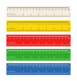 color measuring rulers set vector image
