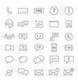 30 chating icons vector image