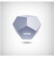 3d abstract futuristic polygon icon vector image