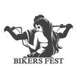 Bikers Fest Emblem vector image