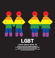 LGBT Couple Symbol vector image