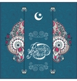 decorative design for holy month of muslim vector image
