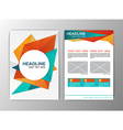 Abstract Orange and Blue Triangle design Brochure vector image