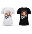 Basketball ball on u-neck t-shirt for new york vector image