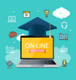 education online concept vector image