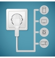 Electrical plug closeup vector image