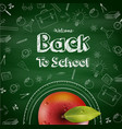 welcome back to school background with red apple vector image