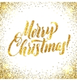 Christmas card Gold sparkles on white background vector image