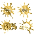 Gold sale background in blot vector image