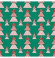 Christmas trees pattern vector image