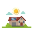 Sun solar energy house vector image