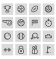 line sport icons set vector image vector image