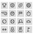 line sport icons set vector image