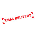 xmas delivery rubber stamp vector image