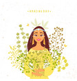 girl herbs vector image