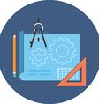 Project development concept Flat design Icon in vector image
