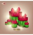 background with beautiful gifts and place for text vector image vector image