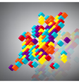 Abstract background with 3d cubes vector image