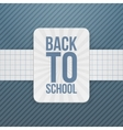 Back to School festive Badge on paper Ribbon vector image