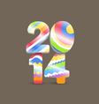 Colorful Happy New Year greeting card vector image
