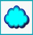 computer cloud vector image