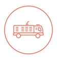Fire truck line icon vector image
