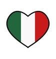 Flag icon Italy design graphic vector image