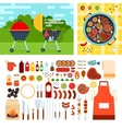 Picknic with grill on summer day vector image