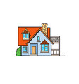 pop art style house sticker vector image
