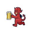 Red Devil Beer vector image