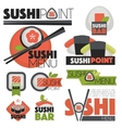 set with sushi banners icons vector image