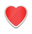 Red heart icon Heart sticker on white background vector image