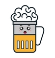 beer glass kawaii style vector image