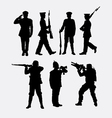Soldier army and police silhouette 1 vector image vector image