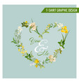 Summer and spring field flowers graphic design vector image
