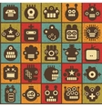 Robot and monsters cell seamless background vector image vector image