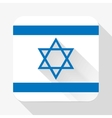 Simple flat icon Israel flag vector image