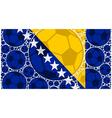 Bosnia and Herzegovina soccer balls vector image vector image