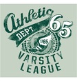 Varsity athletics vector image