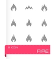 black fire type icon set vector image