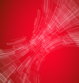 Abstract red tech vector image