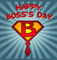 happy bosss day vector image