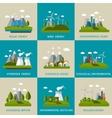 Ecology Icon Flat Set vector image