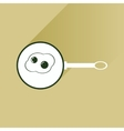 Flat with shadow Icon egg in frying pan vector image