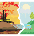 air polluting factory chimneys vector image