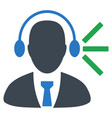 audio operator sound flat icon vector image
