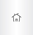 black icon house home symbol vector image