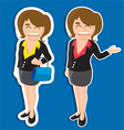business girl vector image